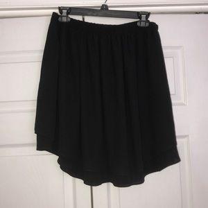 Long Black Flowy Skirt